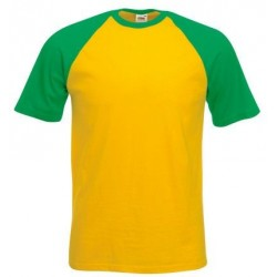 t-shirt baseball manica corta